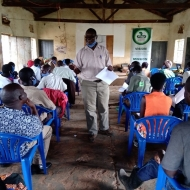 Empowerment meeting of community monitors on how to defend the land and human rights of EACOP project affected communities